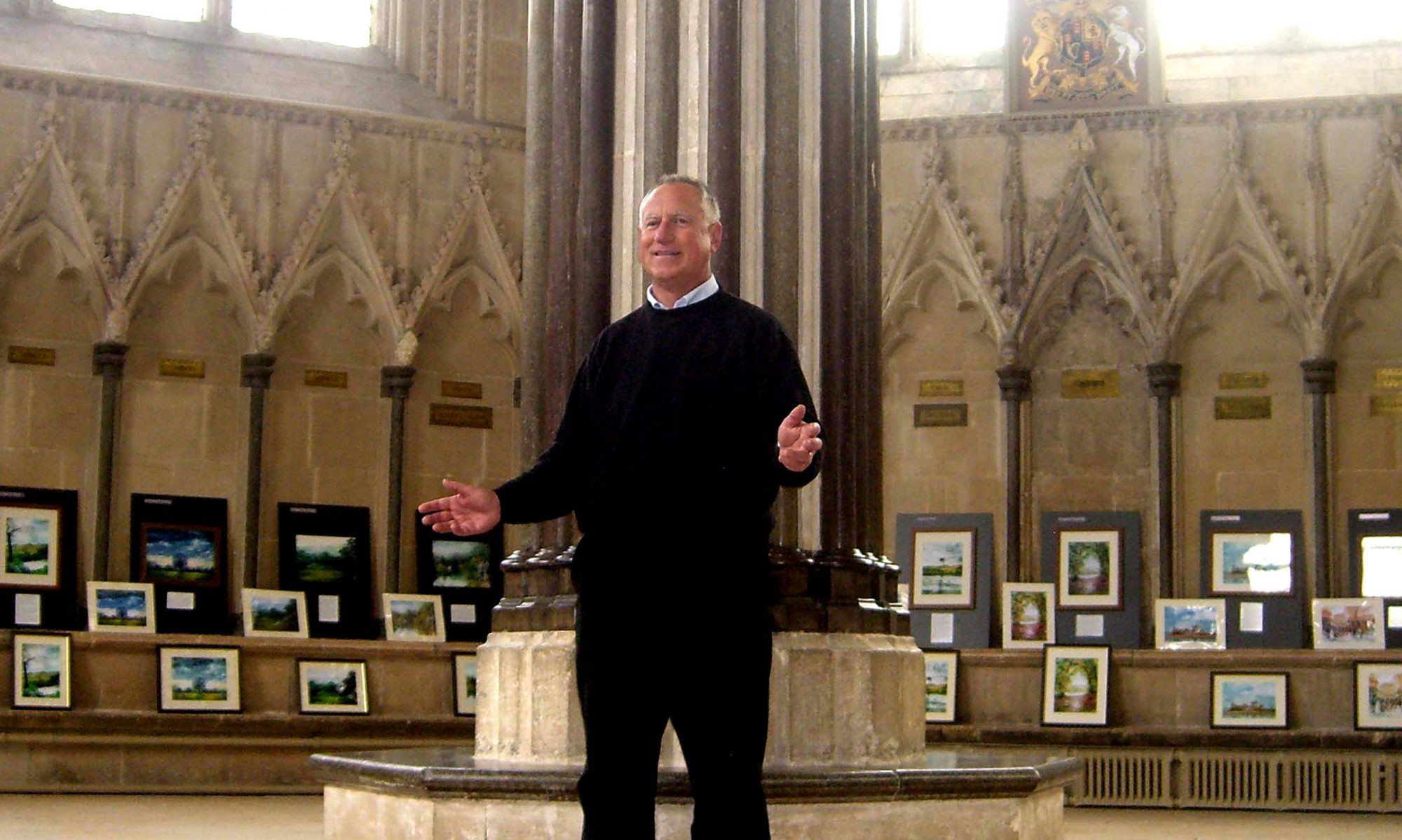 Photo of Simon at Wells Cathedral